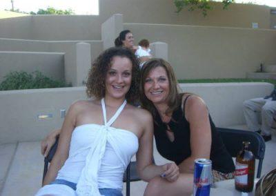 Two women posing for photo